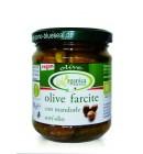 Био зелени маслини с чушка