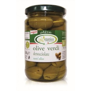 Био зелени маслини без костилка